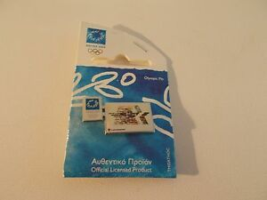 2004 OLYMPICS PIN WITH 1984 LA OLYMPIC FLAG
