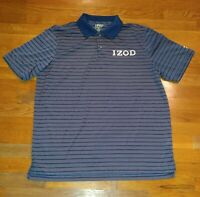 Izod PerformX Men Golf/Polo Shirt Size Large Extreme function COOL FX blue