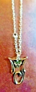 Beautiful Silver Colored Michael Jackson King Of Pop MJ Necklace In Gift Bag