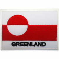 Greenland Flag Patch Iron On Sew On Badge Embroidered Applique Embroidery Motif