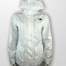 The North Face Womens Jacket Wynes Quad Pocket S Waterproof Hooded White