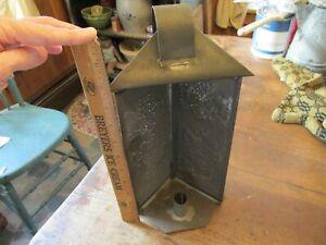 Vintage PRIMITIVE Punched Tin Lantern / Candle Holder