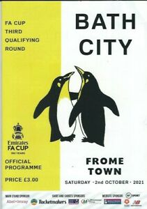 21/22 BATH CITY v  FROME TOWN    ( FA CUP 3rd Qualifying Round)