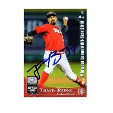 Travis Radke autographed signed 2018 Midwest League All Star card Fort Wayne b