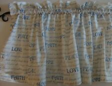 "Christian Scripture Words Valance Curtain Custom Made 42"" Wide X 15"" Long Window"