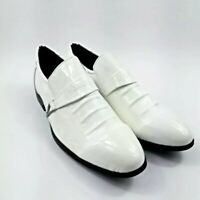 Men's Gatsby style dress shoes white fashion style shoes footwear - Size 11