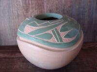 Native American Jemez Pueblo Pottery Clay Etched Pot by Emma Yepa!