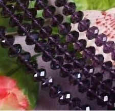 300pcs 4x6mm purple Crystal Gems Loose Bead