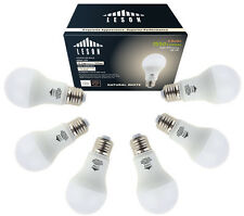 LESON 100W Equivalent  LED Light Bulbs 120V E26 A19 1550lm Natural White(6 pack)