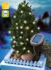 Solar Lichterkette mit 24 LED kaltweiß 7 m, schöne Dekoration für Balkon, Garten