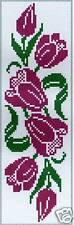 Grille point de croix - MARQUE-PAGE - TULIPES - réf : 6508