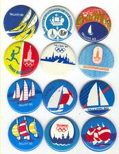 1980 Moscow Olympics Games SAILING Tallinn Pins Set 12