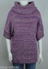 Fever New Purple Cowl Neck Dolman Tunic Pullover Sweater MSRP $98 Size XS