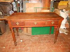 Tavolo in ciliegio 3 cassetti, gambe tornite. Toscana Sec. XIX 80x118x53 Table ^
