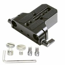 15mm Camera Base Plate with 15mm Rod Rail Clamp For Sony Canon C100/C300/C500