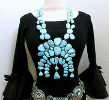 FEDERICO JIMENEZ ~Old Royston Turquoise~OVER THE TOP-HUGE-Naja Necklace