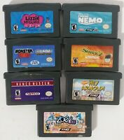Lot of 7 GameBoy Advance Games Lizzie Mcguire, Arnold, Namco Museum, Nemo Shrek