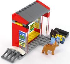LEGO City Bushaltestelle mit Minifigur Kind mit Handy und Hund aus Set 60154 NEU