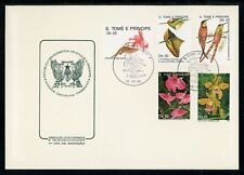 St. Thomas & Prince Scott #868//873 FIRST DAY COVER Orchids FLORA BIRDS $$