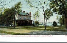 Ogdensburg,N.Y.Public Library,Park & Soldiers Monument,St.Lawrence Co.c.1901-06
