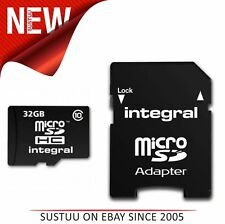 Integral INMSDH32G10 Micro SD Card 32GB with SD Adapter - Class 10