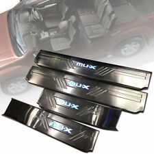 SCUFF PLATE SILL  DOOR STEP CHROME WITH LEDs FOR ISUZU MU-X MUX 2012 14 16 18