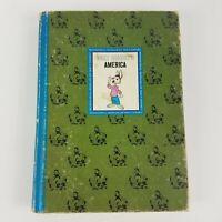 "Vintage 1965 The Wonderful World Of Walt Disney ""AMERICA"" Book Golden Press NY"