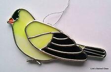 Stained Glass Gold Finch Bird sun catcher
