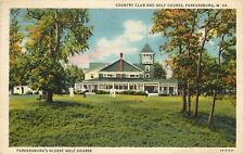 Linen Postcard; Country Club & Golf Course, Parkersburg WV Wood County Posted