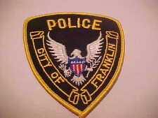 FRANKLIN WISCONSIN  POLICE PATCH **** FREE USA SHIP ****