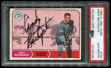 1968 O-PEE-CHEE ANDY BATHGATE AUTO SIGNED PSA/DNA HOF