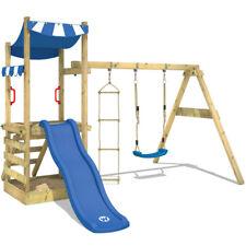 WICKEY Spielturm Kletterturm FunFlyer Sandkasten Rutsche Schaukel Kinder Holz