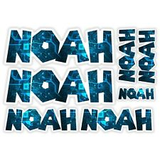 NOAH Vinyl Name Stickers - A5 Sheet Computer Chip Laptop Name Kids Gift #30004