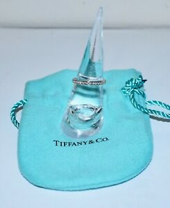 Authentic TIFFANY & CO LUCIDA 0.40Ct 950 Platinum 17 Diamond Eternity Ring Sz5