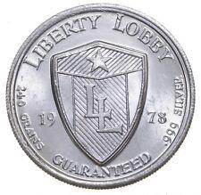 1978 1/2 Oz .999 Fine Silver Jackson Liberty Lobby Dollar Round *125