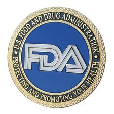 U.S. United States | FDA Food and Drug Administration | Gold Plated Coin