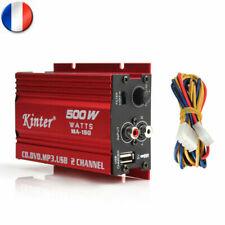 2-CH 500W Voiture Motor Voiture 12V Stéréo Hi-Fi MP3 Amplificateur Audio Amp