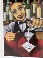 "Will Rafuse Bartender Jack & Frank Signed Art Prints ~12""x9"" Plus Bonuses"