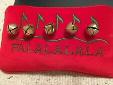Small Christmas Decorative Pillow w/ Jingle Bells Vgc