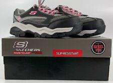 Skechers Womens Size 6.5 Slip Resistant Steel Toe Sneakers New