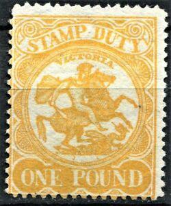 Victoria 1884, £1 Orange Yellow, SG 262a, unused, no gum, CV £1,300