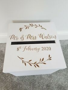 Personalised Engraved Wedding Card Post Box