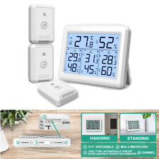 60m Outdoor Indoor-Room Digital Thermometer Hygrometer Temperature Humidity Usa