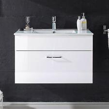 Waschbeckenunterschrank Splashi Badmöbel weiß Hochglanz inkl. Waschbecken 80 cm