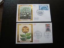 FRANCE - 2 enveloppes 1er jour 1973 (5 mats/academie sciences) (cy38) french