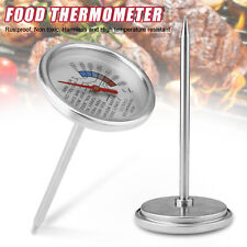 Instant Read Stainless Steel Probe Thermometer Gauge Food Cooking Meat BBQ Grill