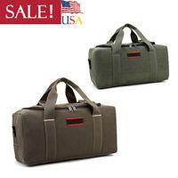 Military Men's Handbag Shoulder Bag Canvas Leather Gym Duffle Travel Luggage US