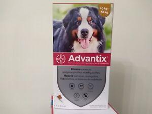 ADVANTIX¹ chien puces-tiques/ Flea Tick Treatment 40-60 kg boite 4 pipettes