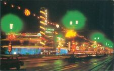 Postcard unposted Lancashire Blackpool illuminations The pleasure beach