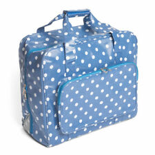 Sewing Machine Bag Perfect for storing & protecting, Denim Blue with White Dots